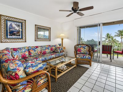 Photo for Keauhou Akahi 210- Top floor spacious condo that sleeps 4! Large ocean view!!