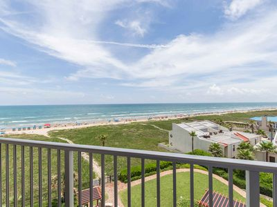 Photo for Aquarius 506 - Beachfront Condo, Direct Beach Access, Luxurious Grounds with Oceanfront Pool & Spa