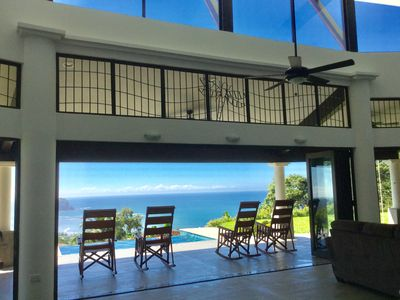 Photo for 2016  Construction Villa / Higher Elevation/180 Degree Beach/Ocean/Jungle  View
