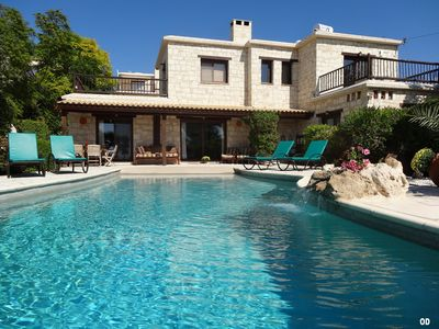 Photo for **Beautiful Stone Villa With Private Infinity Pool, Sea And Mountain Views
