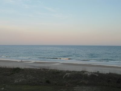 View from the balcony of the condo at Dusk