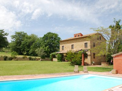 Photo for Beautiful family home with private pool, table tennis and huge trampoline