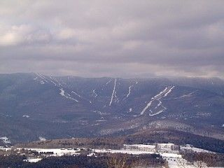 Sugarbush pic taken from the Roxbury Gap, not from our house
