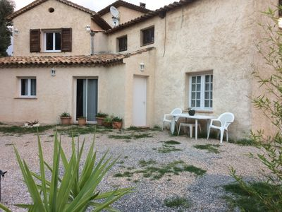 Photo for Apt 70 m² in villa with garden near Cannes