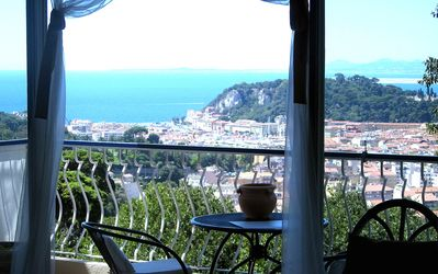 Photo for Magnificent view of NICE from Mount Boron, F2 of 60m ² with balcony