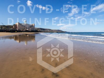 Photo for Seafront Terrace Apartment Las Canteras Beach
