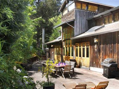 Photo for ARTISAN HOUSE: Craftsman Lodge | Woodstove | Hot Tub | Walk to Town & Beach