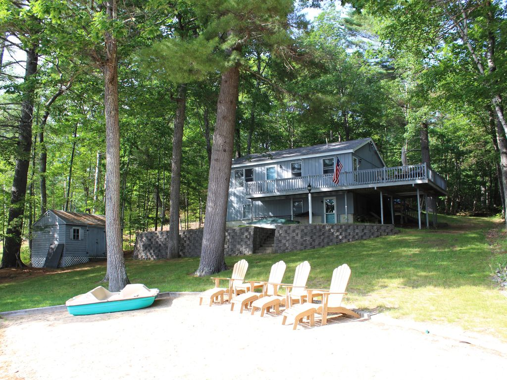 Little Ossipee Lake Vacationing At Its Finest With Caribbean Style Beach Waterboro