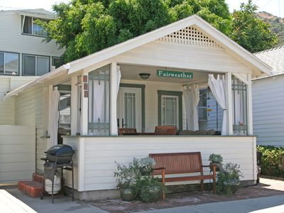 Photo for Fairweather Cottage, 2 Blocks from Beach, Cute Porch, Fireplace, WIFI