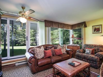 Photo for Simba Run 1st Floor Condo, Located on Bus Route, Large Indoor Pool and Hot tub, No Car Needed!