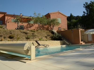 Photo for house and adjoining studio with heated pools ideal for consolidation famili