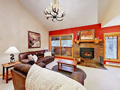 Photo for Upgraded 3BR w/ Deck & Fireplace -- Walk to Slopes & Town
