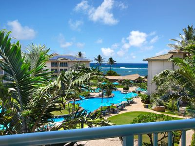 """Photo for PENTHOUSE Waipouli Beach Resort E404 - Beautiful Ocean & Pool View """"BEST OF THE BEST"""" 1 Bdm - AC"""