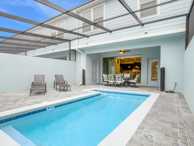 Photo for Whimsical townhome near Disney! AIr Hockey, Waterpark, Private Pool!