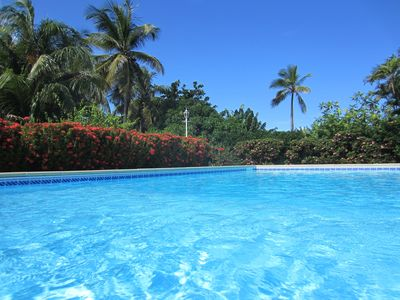 Photo for Superb villa bordering the sea, in a large park with pool
