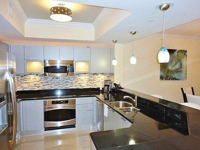 Modern Kitchen Fully Equipped with GE Profile Appliances