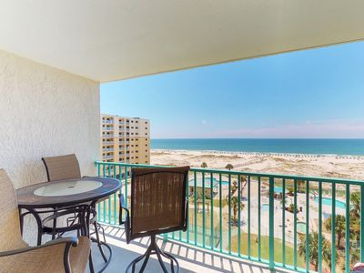 Photo for NEW LISTING! Gulf-front condo w/balcony, beach access & shared hot tub/pools/gym