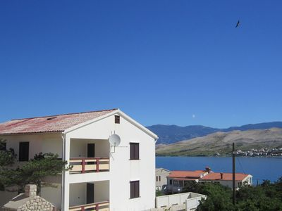 Large house apartment with terrace and sea view,300m distant from beach,BBQ