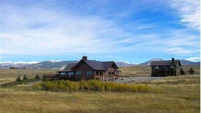 Photo for Stunning log home 300 ft. from Madison River. Perfect for large groups.