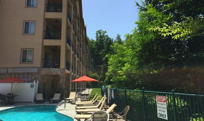 Photo for Downtown 2BR Condo w/ 2 Private Balconies and 1/2 block from Convention Center!