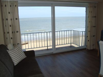Photo for Beach side apartment with panoramic views over the North Sea and garage parking