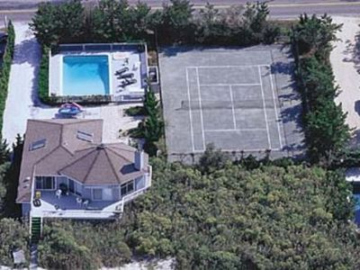 Photo for DUNE RD PRIVACY ON BEACH HAS IT ALL:POOL,TENNIS,JACUZZIS, SPORTS DIRECTLY ON BAY