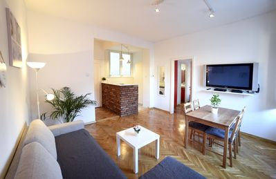 Photo for Deluxe apartment in Center, Free Parking & WiFi