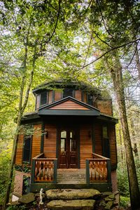 """Photo for An intimate """"treehouse"""" overlooking a quiet creek on private wooded property."""