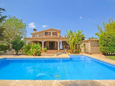 Photo for Rustic natural stone finca near Llubi with pool and tennis court