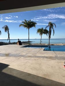 patio, swimming pool and beach