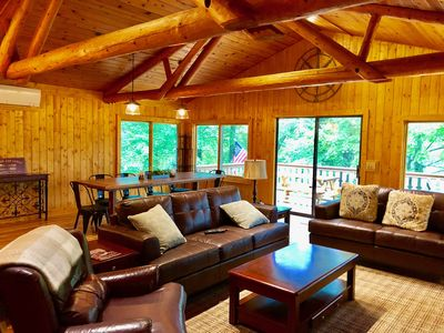 Photo for Connestee Falls 6 BR/5 Bath Private Home with 4 King Suites   TREETOP LODGE