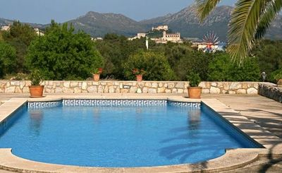 Photo for Beautiful finca with pool and panoramic views of the castle of Arta
