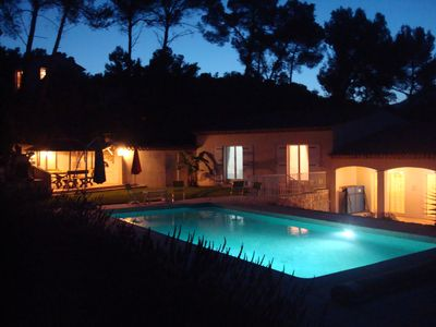 Photo for Rental Villa in Roquefort-les-Pins. quiet, pool, between Cannes, Nice, St Paul