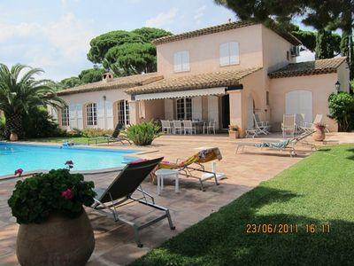Photo for Beautiful luxury villa 400m 'walk from the Med!