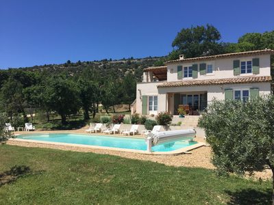 Photo for Villa Sleeping 6 With stunning Views of the Luberon, Private Pool & Free Wifi,