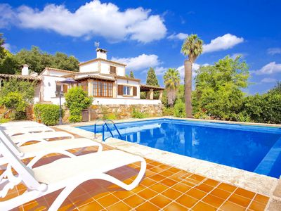 Photo for Great rustic finca, west of Sa Pobla with nice garden and pool