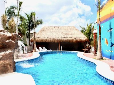 Photo for NEW  POOL AND TIKI HUT (Casa de Mario 1) Outdoor shower, bar, waterfall,restroom