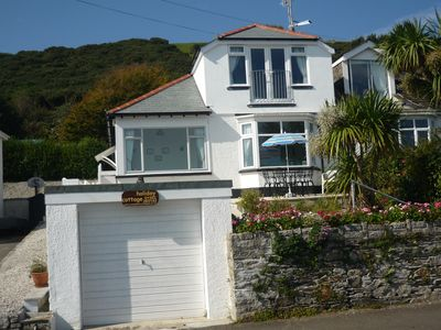Photo for Sea Breeze Cottage - By the beach at Looe. Great sea views, parking. Slps 6