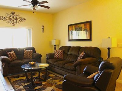 Photo for 3 Bedroom 1st Floor Holiday Vacation Condo near Disney Gated Community!