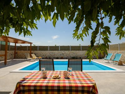 Photo for Orelia Cretan Villa with private pool 24sqm - Romantic stone villa