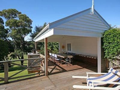 Photo for St Andrews Cottage - Walk to Portsea beach & village or enjoy BBQ's on the deck