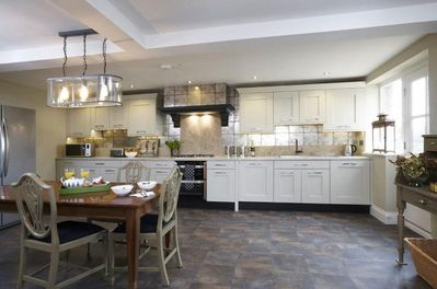 The large modern kitchen with all the usual mod cons