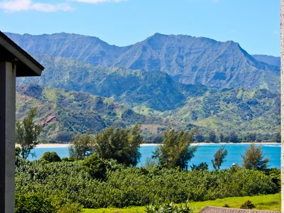 Photo for Upgraded studio with AC in world class tropical beach resort.Hanalei Bay view