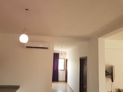 Photo for Well equipped apartment, 3 bedrooms, large living room, Garden and swimming pool ...