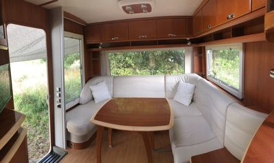 Photo for Large caravan recent, all equipped on garden
