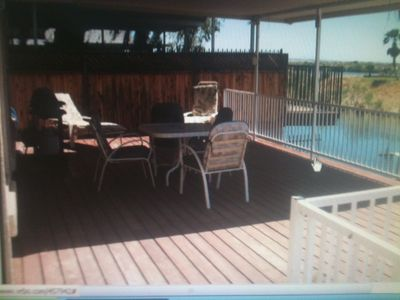 Photo for Riverfront Vacation House 2-stories Colorado River View  (Sunshine Mar.)