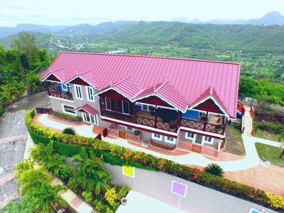 Photo for The Elegant Marigot Grande Villa & view of the entire Marigot Bay/Roseau Valley