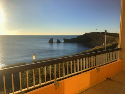 Photo for Magnificent Sea View, Direct Beach Access, Large Terrace, Refurbished, WIFI
