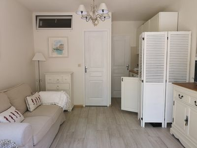 Photo for Beautiful newly refurbished studio on secure residence, 15 minure walk to beach.