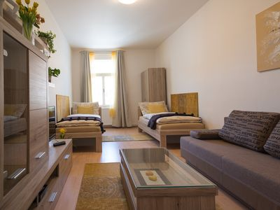 Photo for Spacious 2 Bedroom Home with FREE WiFi Terrace + Garden, close to Prague Castle
